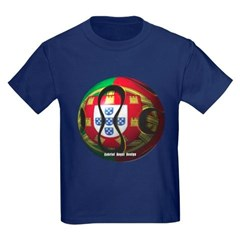 Portugal Soccer Youth Dark T-Shirt by Hanes