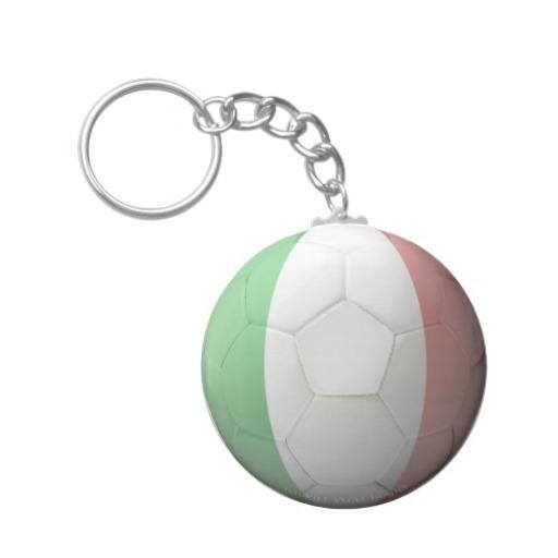 Italy Soccer Basic Button Keychain