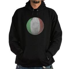 Italy Soccer Dark Hooded Sweatshirt