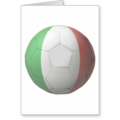 Italy Soccer Greeting Card
