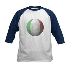 Italy Soccer Kids Baseball Jersey T-Shirt