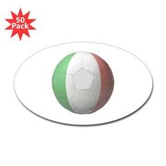 Italy Soccer Oval Sticker (50 pk)