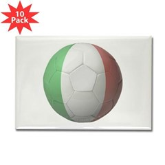 Italy Soccer Rectangle Magnet (10 pack)