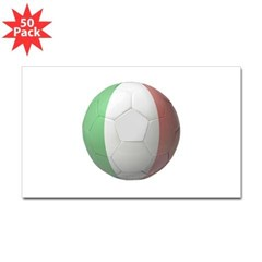 Italy Soccer Rectangle Sticker 50 pk