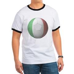 Italy Soccer Ringer T-Shirt