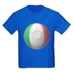 Italy Soccer Youth Dark T-Shirt by Hanes