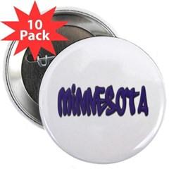 """Minnesota Graffiti 2.25"""" Button (10 pack)"""