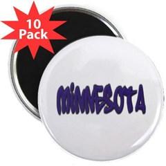 "Minnesota Graffiti 2.25"" Magnet (10 pack)"
