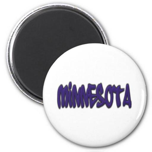 Minnesota Graffiti 2 Inch Round Magnet