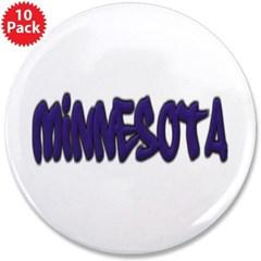 """Minnesota Graffiti 3.5"""" Button (10 pack)"""