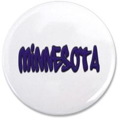 """Minnesota Graffiti 3.5"""" Button"""