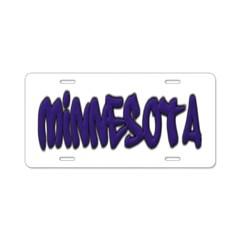 Minnesota Graffiti Aluminum License Plate
