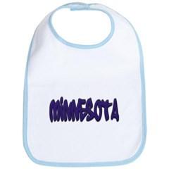 Minnesota Graffiti Baby Bib