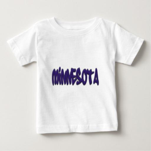 Minnesota Graffiti Baby Fine Jersey T-Shirt