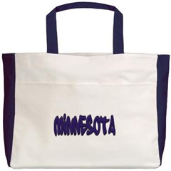 Minnesota Graffiti Beach Tote Bag