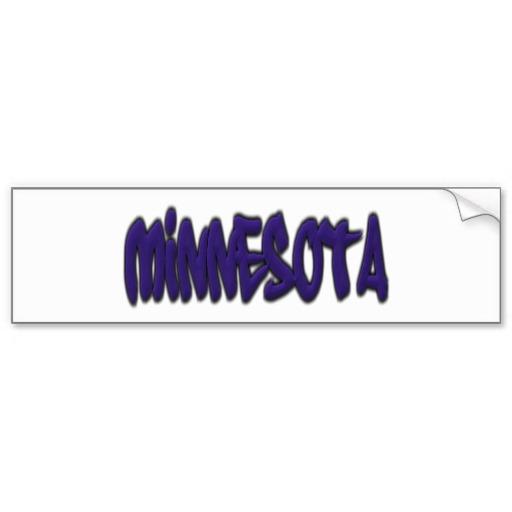 Minnesota Graffiti Bumper Sticker