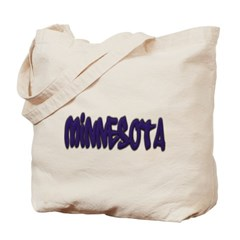 Minnesota Graffiti Canvas Tote Bag