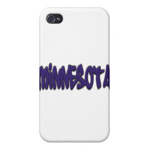 Minnesota Graffiti Case Savvy iPhone 4 Matte Finish Case