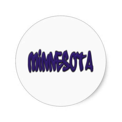Minnesota Graffiti Classic Round Sticker