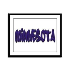 Minnesota Graffiti Framed Panel Print