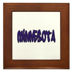 Minnesota Graffiti Framed Tile
