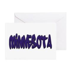 Minnesota Graffiti Greeting Card