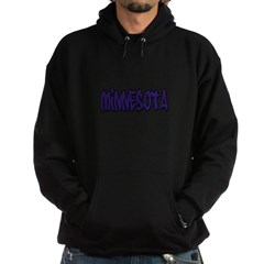 Minnesota Graffiti Hooded Dark Sweatshirt