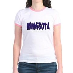 Minnesota Graffiti Junior Ringer T-Shirt