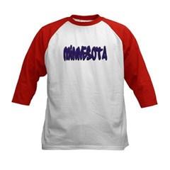 Minnesota Graffiti Kids Baseball Jersey T-Shirt