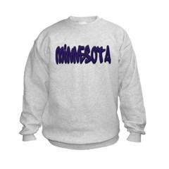 Minnesota Graffiti Kids Crewneck Sweatshirt by Hanes