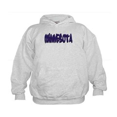 Minnesota Graffiti Kids Sweatshirt by Hanes