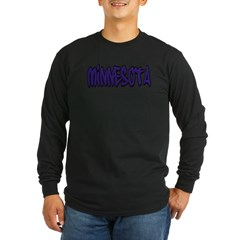 Minnesota Graffiti Long Sleeve Dark T-Shirt