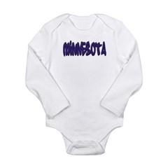 Minnesota Graffiti Long Sleeve Infant Bodysuit
