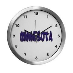 Minnesota Graffiti Modern Wall Clock
