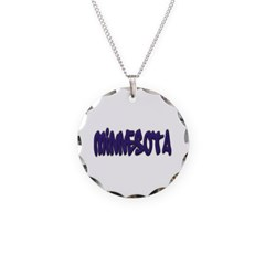 Minnesota Graffiti Necklace with Round Pendant
