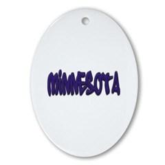 Minnesota Graffiti Ornament (Oval)