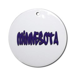 Minnesota Graffiti Ornament (Round)