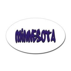 Minnesota Graffiti Oval Decal