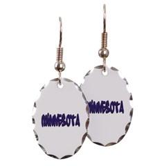 Minnesota Graffiti Oval Earrings