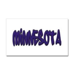 Minnesota Graffiti Rectangle Decal