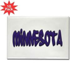 Minnesota Graffiti Rectangle Magnet (10 pack)