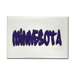 Minnesota Graffiti Rectangle Magnet