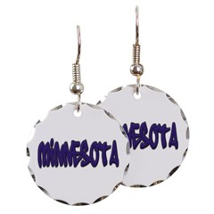 Minnesota Graffiti Round Earrings