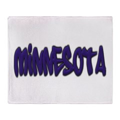 Minnesota Graffiti Throw Blanket