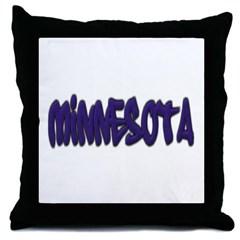 Minnesota Graffiti Throw Pillow