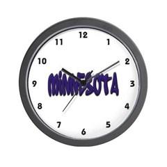 Minnesota Graffiti Wall Clock