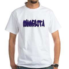 Minnesota Graffiti White T-Shirt
