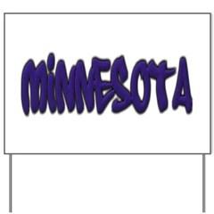 Minnesota Graffiti Yard Sign