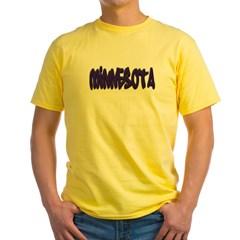 Minnesota Graffiti Yellow T-Shirt