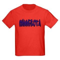Minnesota Graffiti Youth Dark T-Shirt by Hanes